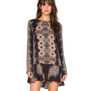 Free People Long Sleeve Smooth Talker Tunic Dress